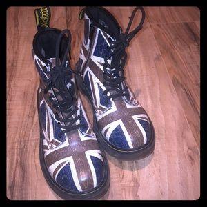 Size 2 London Flag Doc Marten boots EUC